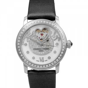 Heart Beat Automatic White Dial Diamond Ladies Watch