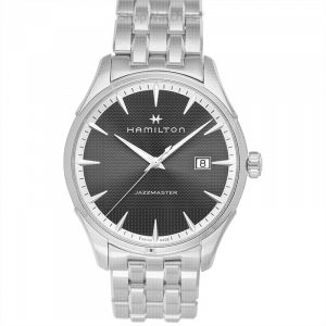 Jazzmaster Quartz Black Dial Stainless Steel Men's Watch