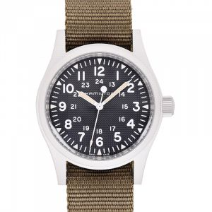Khaki Field Manual-winding Black Dial Stainless steel Men's Watch