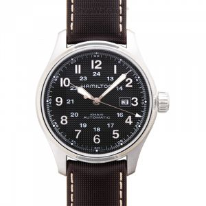 Khaki Field Automatic Black Dial Stainless Steel Men's Watch