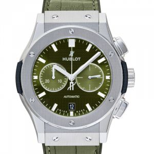 Classic Fusion Chronograph Titanium Green Automatic Green Dial Men's Watch