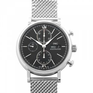 Portofino Chronograph Automatic Black Dial Men's Watch