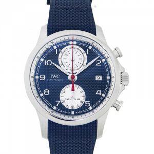 Portugieser Yacht Club Chronograph Automatic Blue Dial Men's Watch
