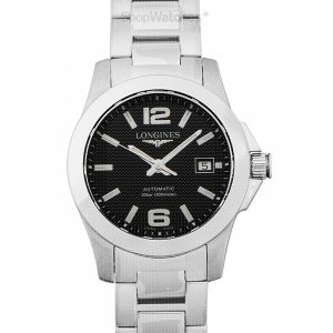 Conquest Automatic Black Dial Ladies Watch