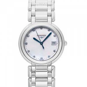 PrimaLuna Quartz White Dial Diamond Ladies Watch