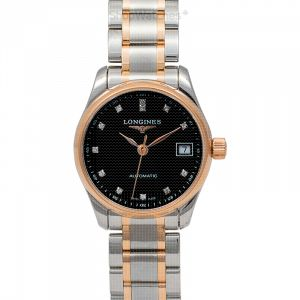 Master Collection Automatic Black Dial Diamond Ladies Watch