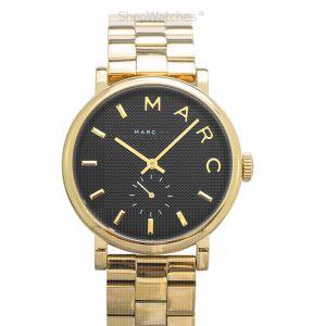 Baker Black Dial Gold-tone Steel Ladies Watch 36MM