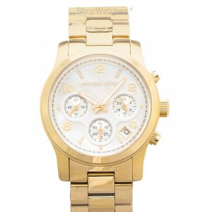Runway Chronograph Quartz White Mother of Pearl Dial Ladies Watch