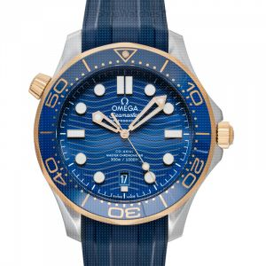 Seamaster Diver 300 M Co-Axial Master Chronometer 42mm Automatic Blue Dial Yellow Gold Men's Watch
