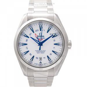 Seamaster Aqua Terra 150M Master Co-Axial GMT 43mm Automatic White Dial Titanium Men's Watch