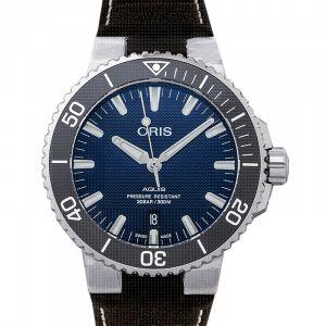 Aquis Date Automatic Blue Dial Men's Watch