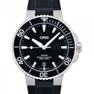 Aquis Date Automatic Black Dial Men's Watch