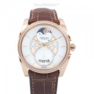 Tonda Metropolitaine Selene Automatic White Mother of Pearl Dial Diamond Bezel Ladies Watch