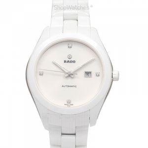 Hyperchrome Automatic White Dial Diamond Ladies Watch
