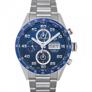 Carrera Calibre 16 DD Automatic Chronograph Blue Dial Men's Watch