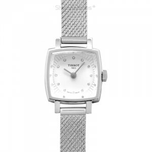 T-Lady Lovely Square Quartz Silver Dial Diamond Indexes Ladies Watch