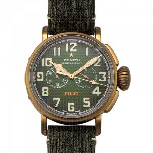 Pilot Bronze Automatic Green Dial Men's Watch