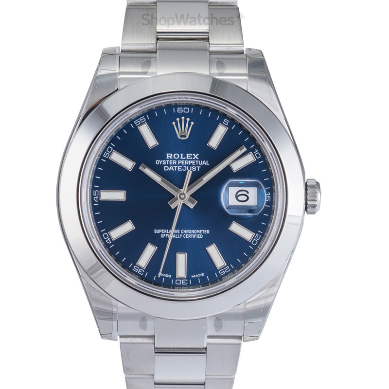Rolex Datejust 116300/Blue Stick