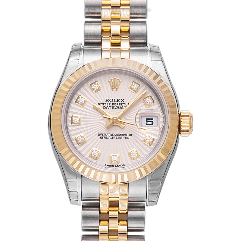 Rolex Lady Datejust 179173-Champ-G-J